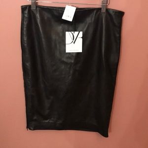 Diane Von Furstenberg Genuine Leather Skirt